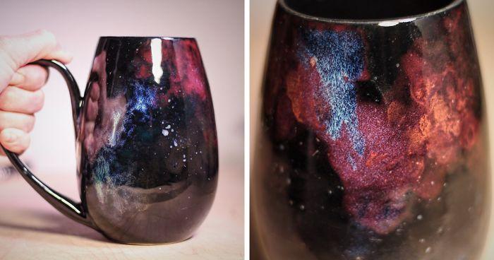 Cerámica inspirada en las galaxias para que puedas beber de las estrellas