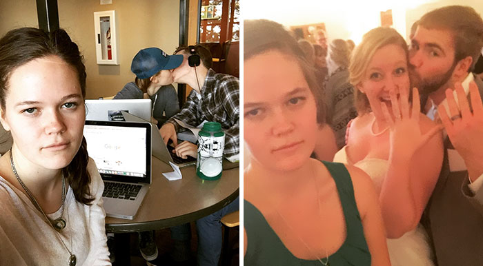 Woman Documents Her Life As Third Wheel In Hilarious Selfies, Becomes Internet Celebrity