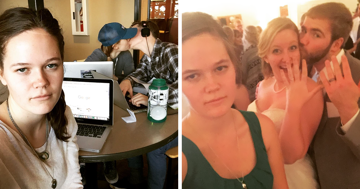 Woman Documents Her Life As Third Wheel In Hilarious Selfies Becomes Internet Celebrity Bored Panda