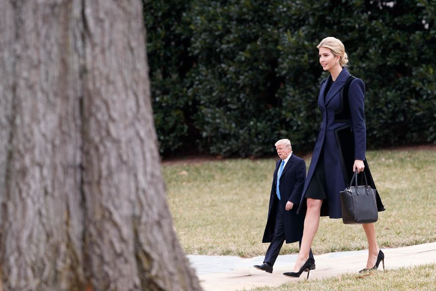 Potus On A Stroll With His Daughter