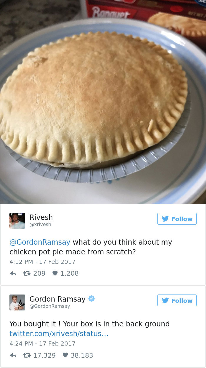 10+ Times Amateur Chefs Showed Gordon Ramsay Their Food, And ...