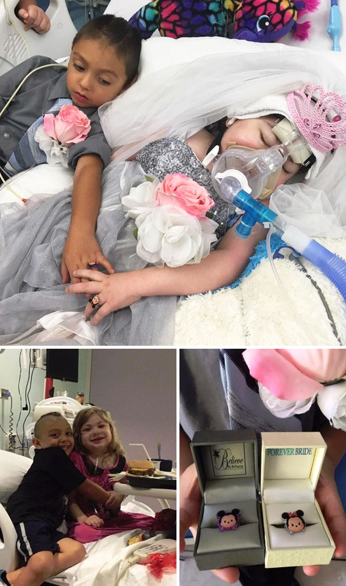 Five-Year-Old Girl Suffering From Cystic Fibrosis Is Granted Her Dying Wish To 'Marry' Her Best Friend In Heartbreaking Wedding Ceremony Just Hours Before She Passes