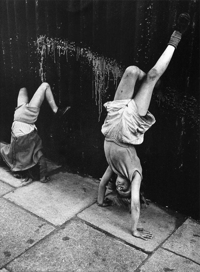 Girls Doing Handstands, Southam Street, London, 1956