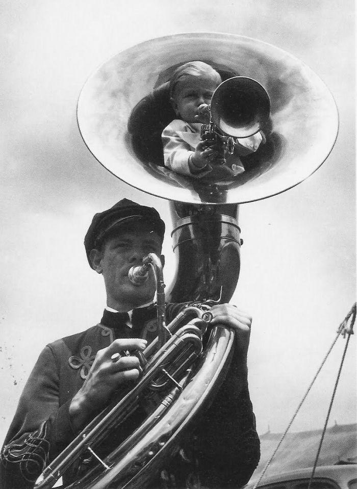 Tuba Players, New York, 1940s