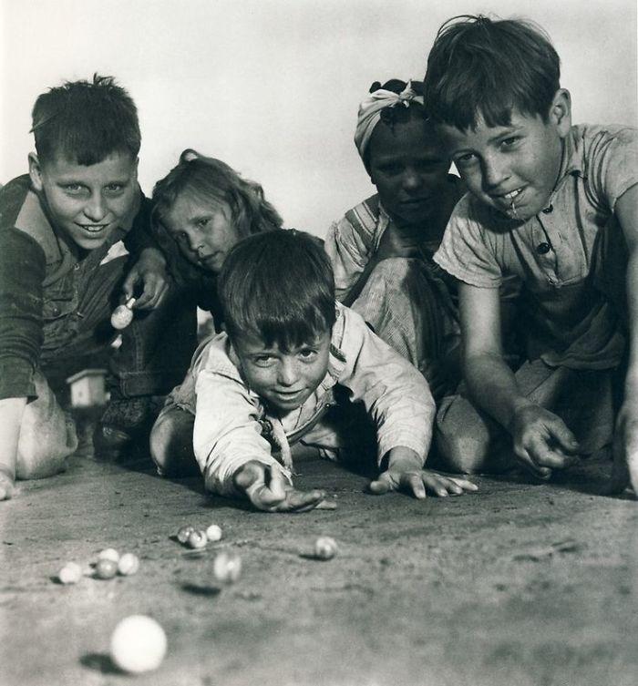 Children Playing Marbles, Missouri, 1940s