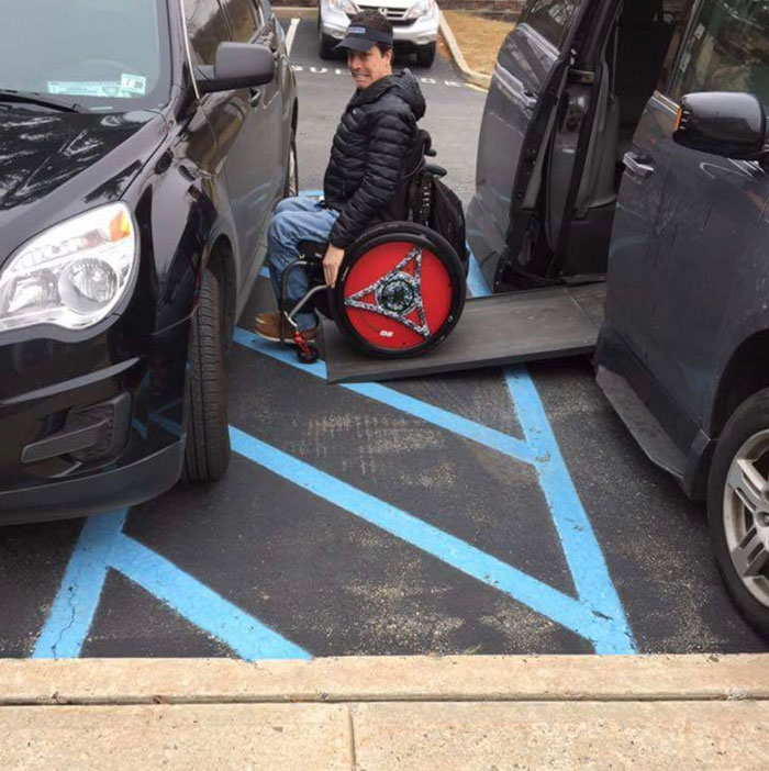 Please Don't Park Like An Ass In The Handicap Area. It Has Extra Room For A Reason