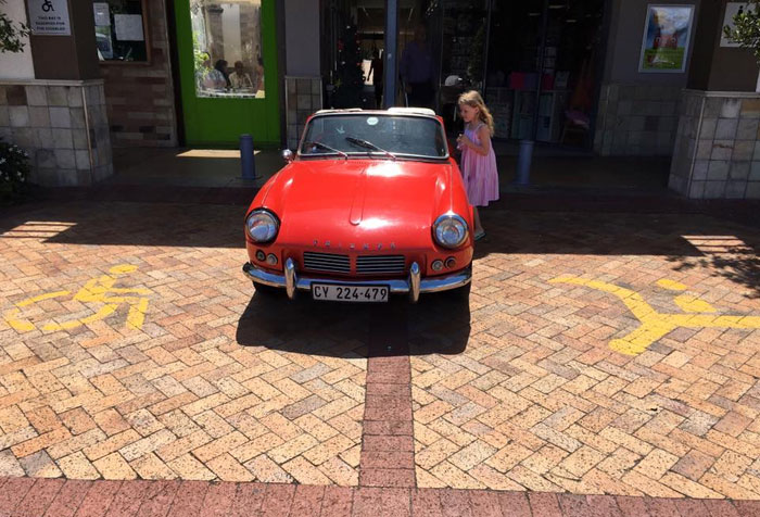 I Don't Care How Cool Your Car Is - Parking In A Disabled And A Mother Baby Parking Is Simply Not Cool