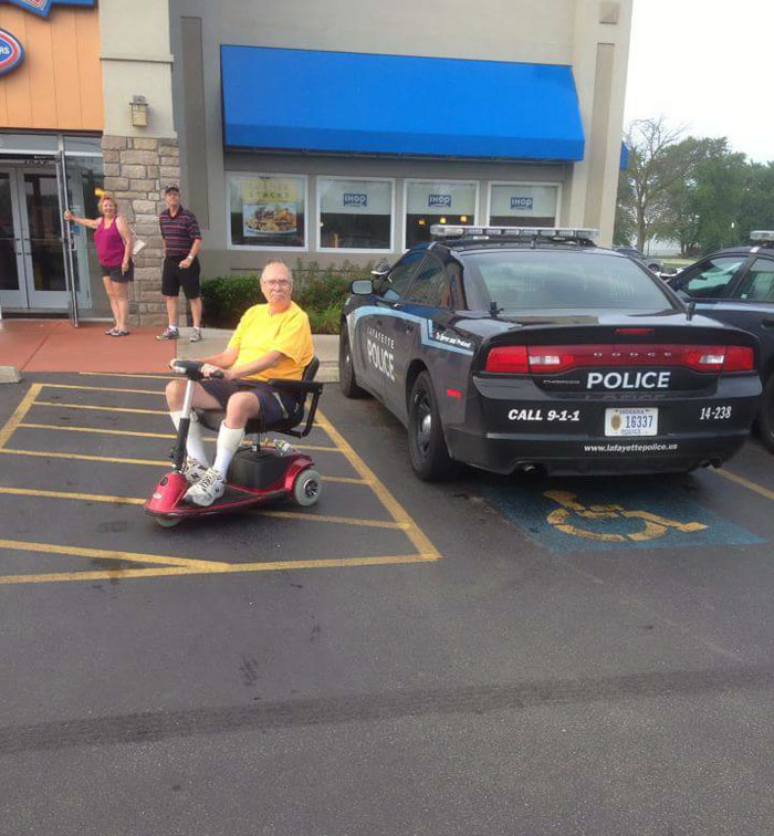 Police Parked In A Handicapped Spot