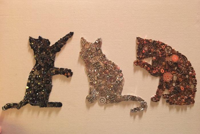 Bits And Pieces Cat Trio