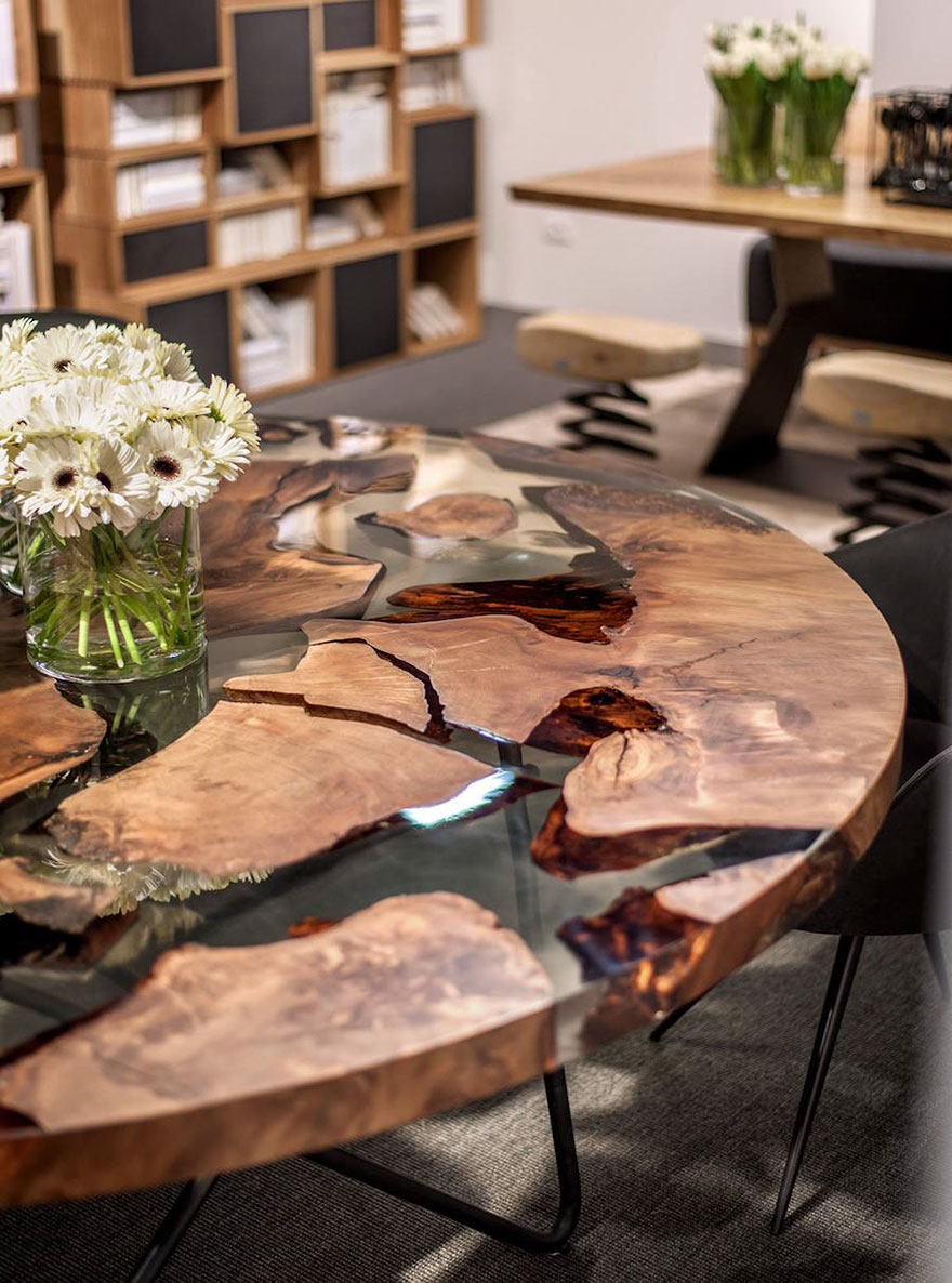 kauri wood resin earth table riva 1920 renzo. Amazing Resin Table Made From 50 000 Year Old Wood   Bored Panda