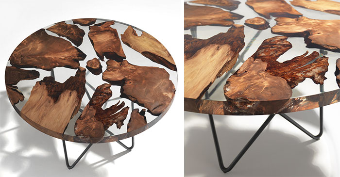 Amazing Resin Table Made From 50,000-Year-Old Wood