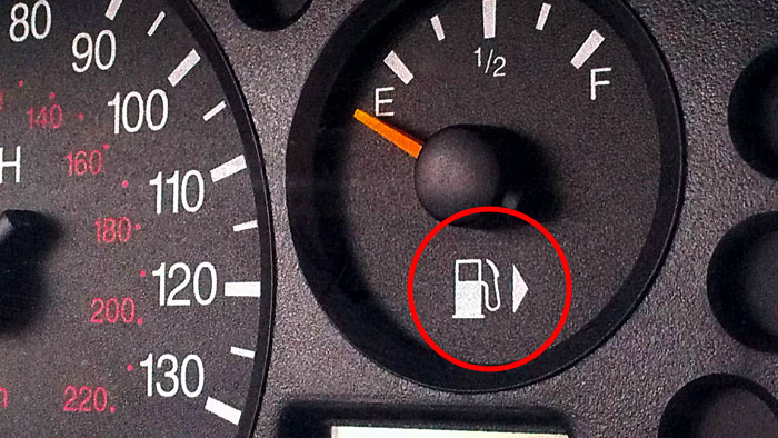 The Arrow Next To The Gas Symbol Shows Which Side Your Tank Is On