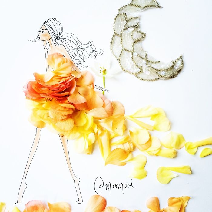 Flower Fashion Illustrations