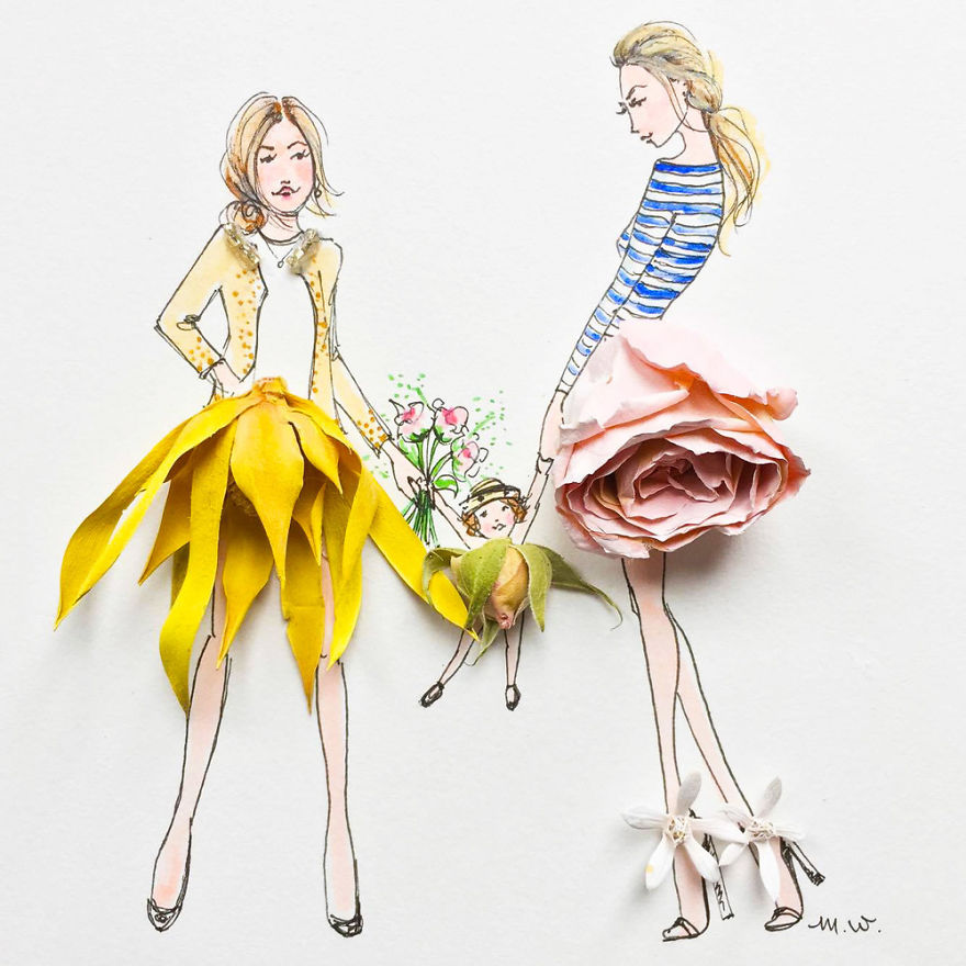 Flower Fashion Illustrations