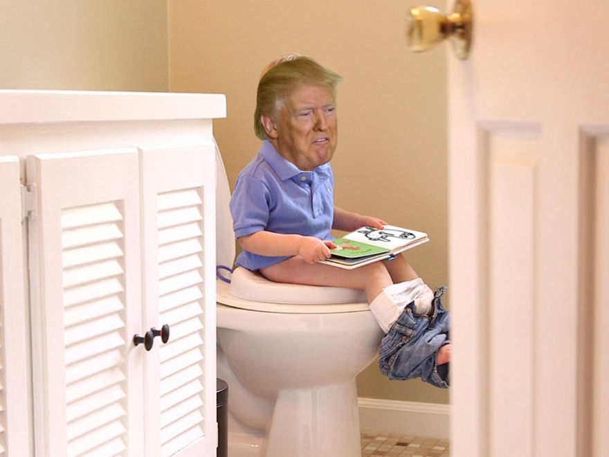 Trump On His Throne
