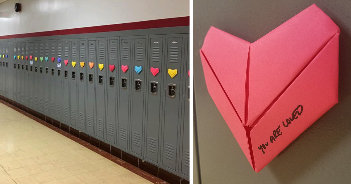 Anonymous Student Surprises Entire School With 9 Handmade Valentines He S Been Making Since September Bored Panda