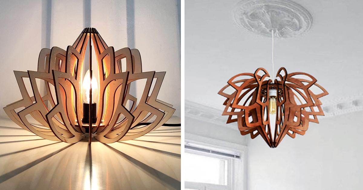 "I Create Eco-Friendly ""Lotus"" Lamps"