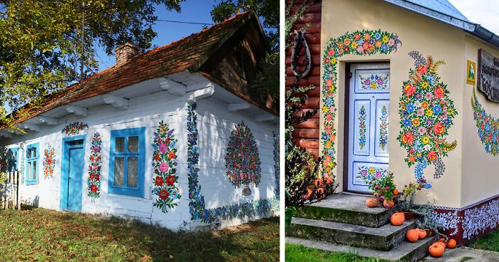 Little Polish Village Where Everything Is Covered In Colorful Flower