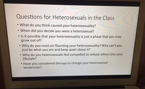 Professor Quizzes Students On Heterosexuality, Completely Shuts Down Homophobes