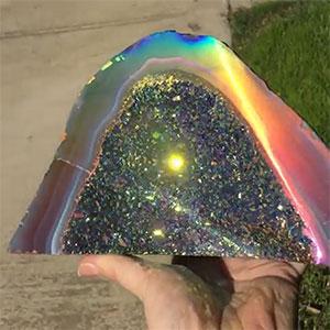Rainbow Crystal Geode
