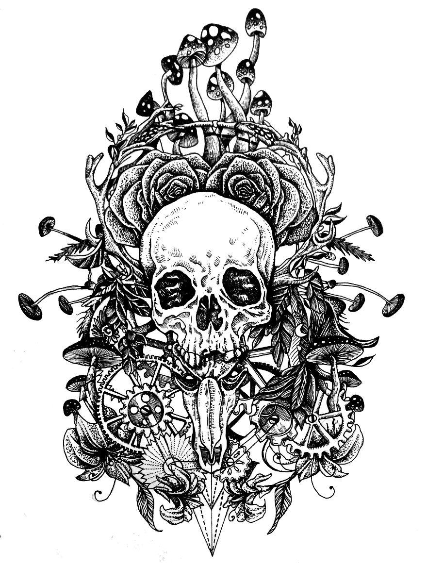 My Own Hand-drawn Custom Tattoo Designs