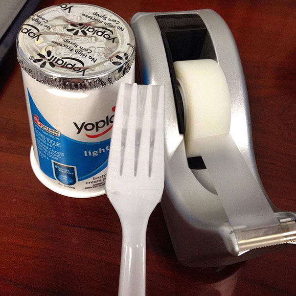 Use Duct Tape And Fork When There's No Spoon In The Office