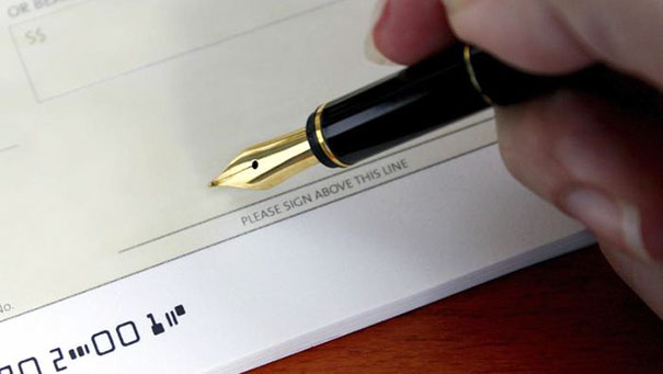 Sign All Of Your Blank Checks Now To Save Time Writing Future Checks
