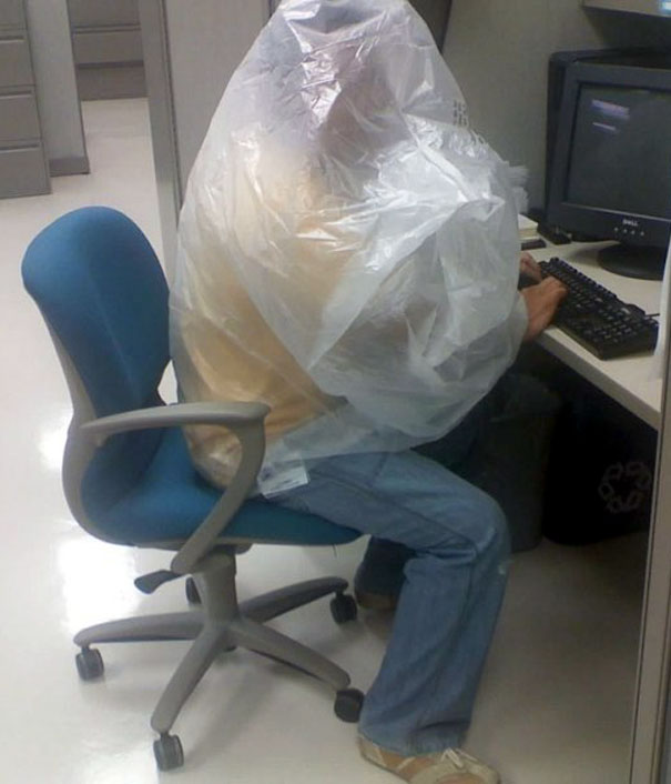 Put A Plastic Bag Over Your Head To Make You Pass Out So Work Feels Shorter