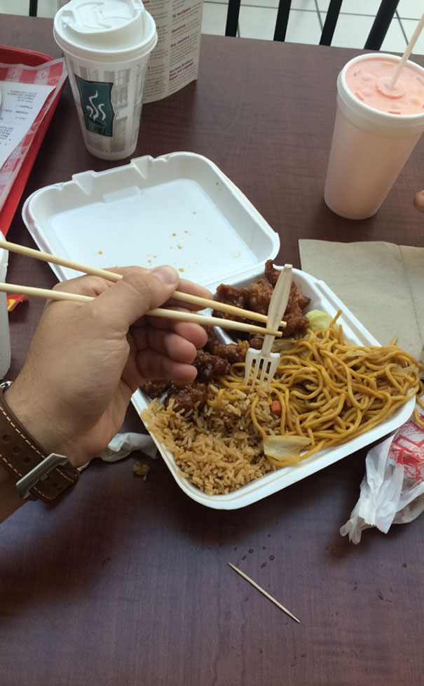 Use A Fork In Case You Haven't Mastered Chopsticks Yet