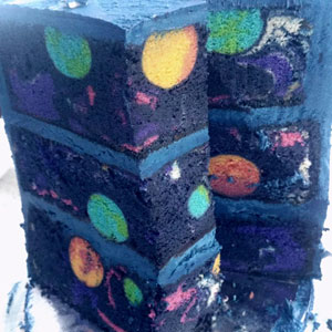 Space Cake With A Hidden Galaxy Inside