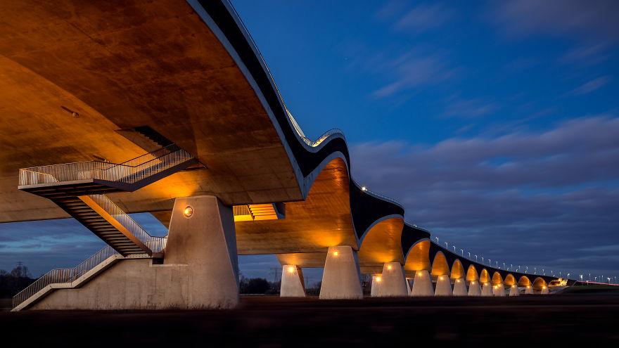 """The """"De Oversteek"""" Bridge In Nijmegen"""