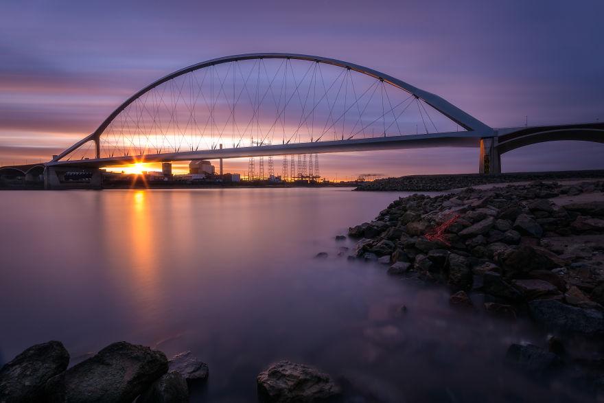"""The Other Side Of The """"De Oversteek"""" Bridge In Nijmegen"""