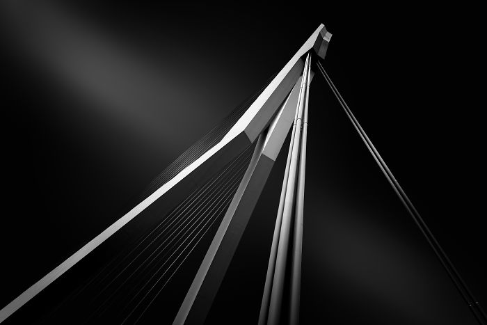 The Erasmus Bridge In Rotterdam