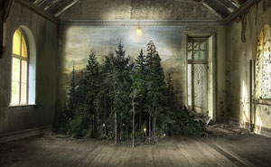 This Artist Used A 110-Year-Old Technique To Create Surreal Indoor Landscape Photomontages