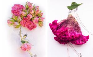 I Use Flowers & Veggies To Create Fashion Illustrations