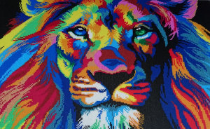 I Spent 85 Hours Using Tweezers And 45k Beads To Made A Lion Portrait