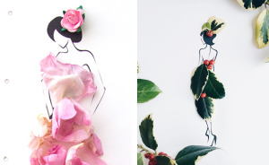 I Created A Fashionable Alter Ego For Myself Using A Pen And Some Flowers