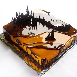 I Create Chocolate Worlds On The Mirror Glaze Cakes