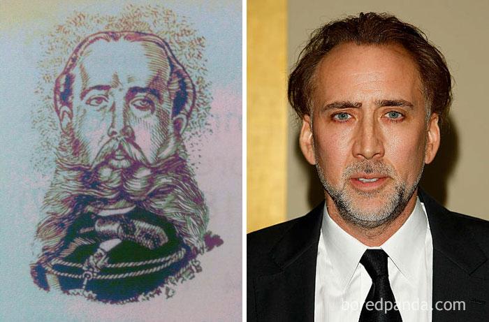 Emperor Maximiliano Of Habsburgo And Nicolas Cage