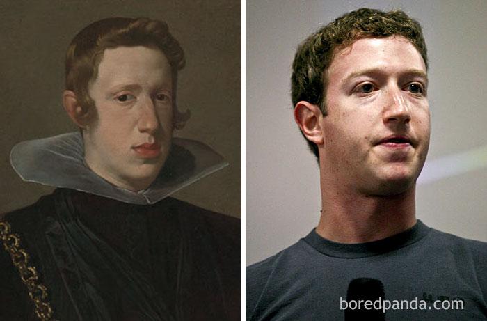 King Of Spain Philip IV (1605-1665) And Mark Zuckerberg