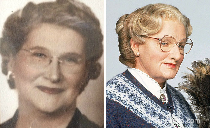 My Girlfriend's Great Grandma Looks Almost Identical To Mrs. Doubtfire