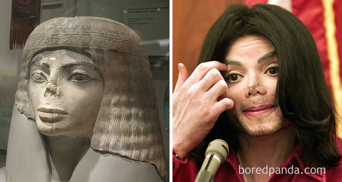Egyptian Bust And Michael Jackson