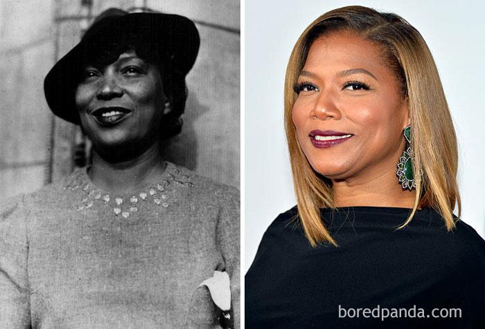 African-American Novelist Zora Neale Hurston (1891-1960) And Queen Latifah