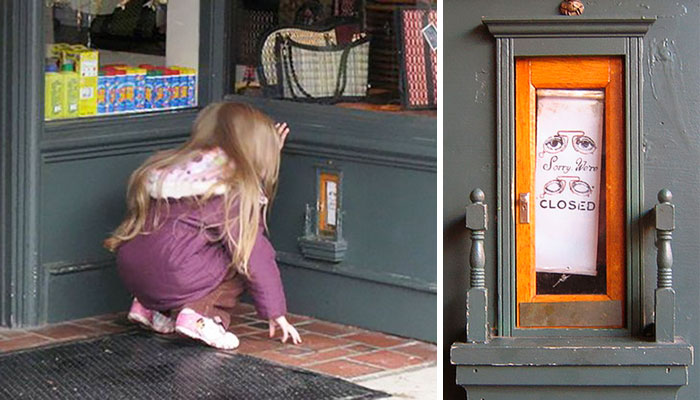 Mysterious Tiny Doors Keep Appearing Across This Town, And Here's The Secret Behind Them