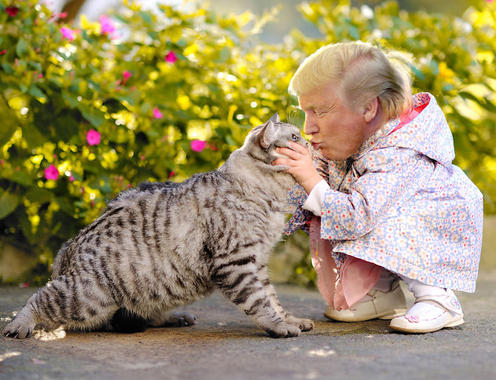 Tiny Trump Grabs Another Pussy