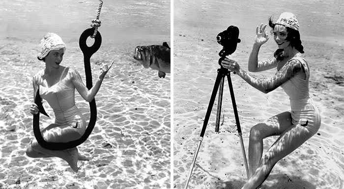 It's Hard To Believe These Pin-Up Photos Were Shot Underwater In 1938