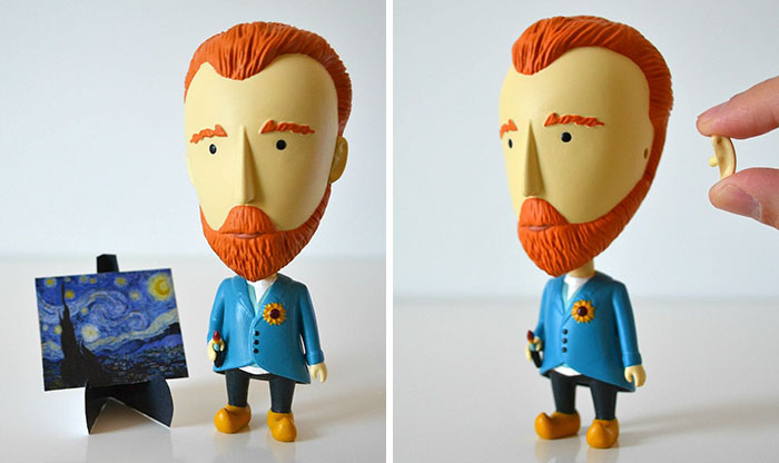 Van Gogh Action Figure With A Detachable Ear Is A Perfect Gift For Art Lovers