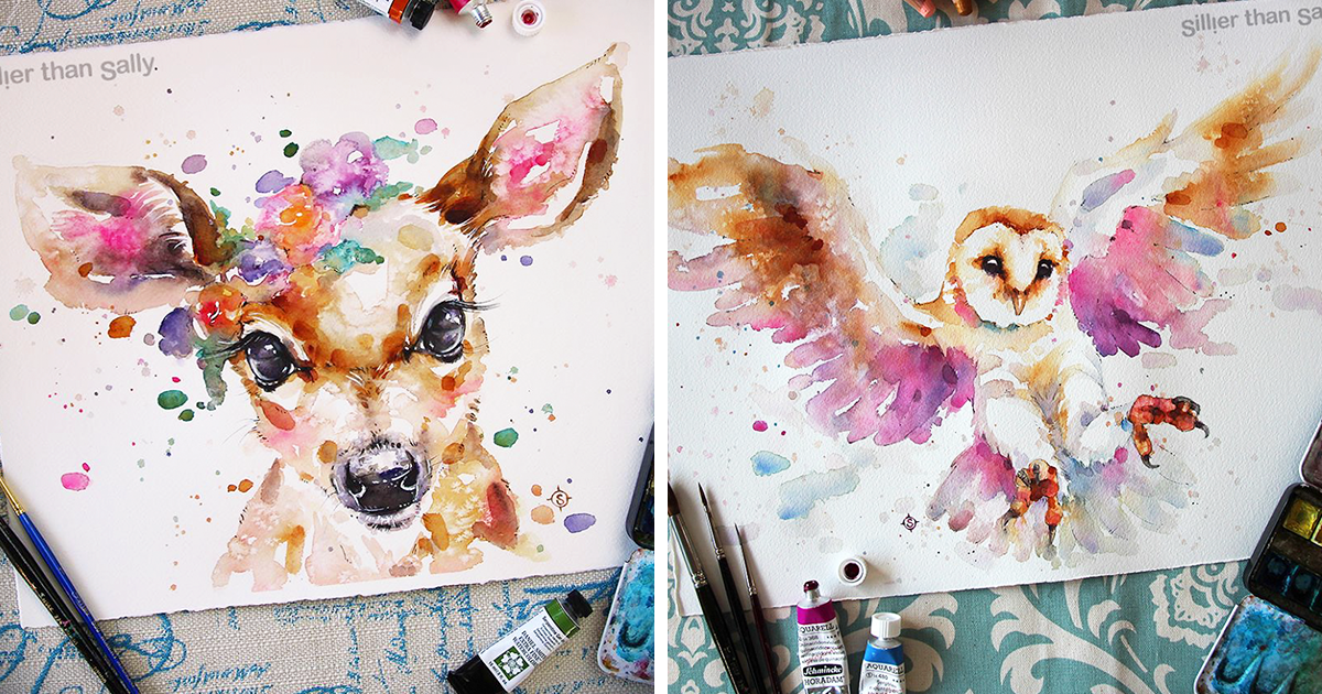 "Nature-Inspired Watercolor Paintings By ""Sillier Than Sally"""