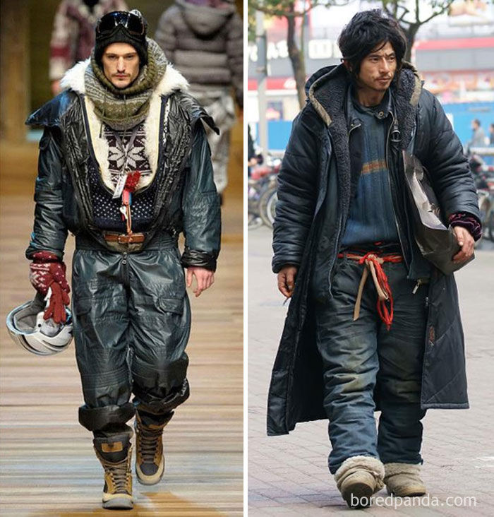 A High Fashion Model Or This Homeless Guy?