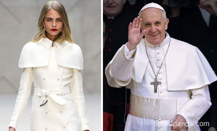 Cara Delevingne Or Pope Francis?